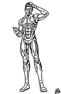 Awesome Ben 10 Alien Force Cast Poster Coloring Page