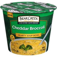 Bear Creek Hearty Creamy Soup Bowl Cheddar Broccoli Ounce Pack of 6 Broccoli Cheese Soup, Broccoli Cheddar, Broccoli Crockpot, Bear Creek Soup, Cheddar Soup Recipe, Cheddar Potatoes, Crock Pot Soup, Clean Eating Snacks, Healthy Eating