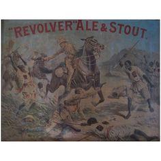 Boer War Era Tin Brewery Advertising Sign 1