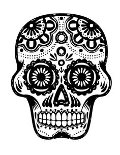 scull stencils | characteristics of my stencil is basically a sugar skull. The skull ...