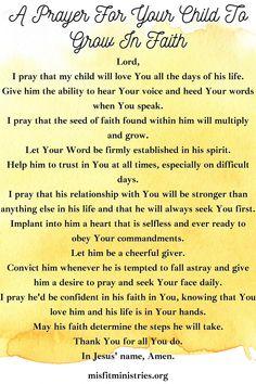 Morning Prayer For Kids, Morning Prayer Christian, Prayer For My Children, Prayer For Family, Prayer For You, Morning Prayers, Positive Inspiration, Life Inspiration, Prayer Verses