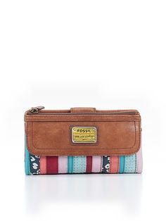 Fossil Women Leather Wallet One Size