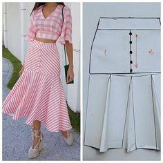 Corte e costura ( Fashion Sewing, Diy Fashion, Fashion Dresses, Fashion Tips, Moda Fashion, Punk Fashion, Fashion Bloggers, Fashion 2017, Fall Fashion