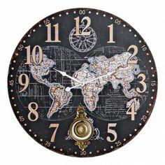 Clock, Personalized Items, Desk Clock, Tree Hut Watches, Worldmap, Note Cards, Blue Nails, Watch, Clocks