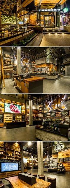 Starbucks's Disneyland Store Is Surprisingly Classy Starbucks Shop, Starbucks Coffee, Restaurant Lounge, Restaurant Design, Cafe Shop, Cafe Bar, Theme Nature, Coffee Shop Design, Coffee Cafe