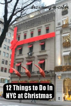 dreamingincolor: 12 Things to do in NYC at Christmas