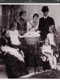 Duke Carl Theodor with his family and his mother Dutches Ludovika