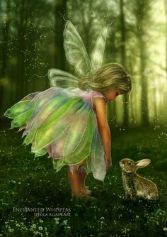 Fairy child and Bunny