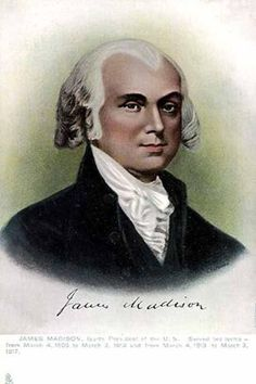 James Madison - 4th president - March 16, 1751