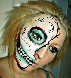 Sugar Skull http://www.makeupbee.com/look.php?look_id=58590