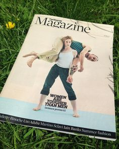 Lovely to see @philfisk on the cover of today's @obsmagazine for a feature on how women are tougher than men by @angeladsaini.  #observermagazine #strongwomen #photography #weareflock