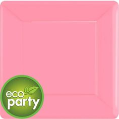 Pink Square Paper Dinner Plates 10in 20ct - Party City Canada