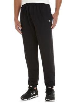 Champion Men's Heathered Fleece Pants - Black - 3Xlt