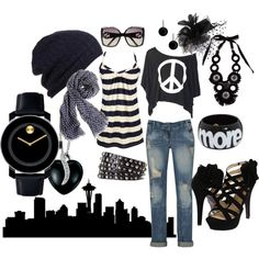 outfit, created by #allisontherese on #polyvore. #fashion #style Heaven Sent Mojo Moxy