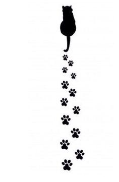 45 Mejores Imágenes De Siluetas De Gatos Cat Outline Painting On