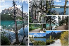 lake-louise-shore-line-trail-easy-walk-views-turquoise-glacier-water-mountains-tourist-attraction