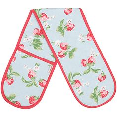 Buy Cath Kidston Strawberry Double Oven Glove Online at johnlewis.com Cath Kidston Home, Oven Glove, Kitchen Linens, John Lewis, Pot Holders, Gloves, Strawberry, Al Dente, Black Seed