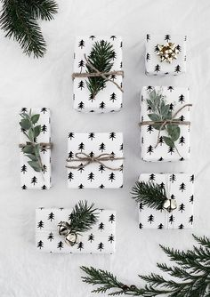 The perfect printable Christmas Wrapping paper - links to many options!