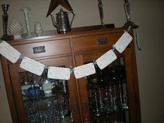 NewVintage Tiffany Receipt Banner / Garland by creationsbyminda, $10.00