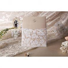 elegante corte de flores invitación de la boda (juego de 50)