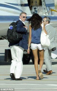 Prince Andrew and Alexandra Escat  leaving Porto Cervo, Sardinia, in August 2010.