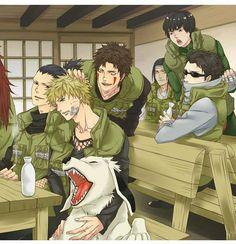 Konoha's Shinobis: Naruto, Shikamaru, Kiba, Shino, Rock Lee, Neji, Choji ❤️❤️❤️