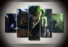 Joker and Harley Quinn - 5 Piece Canvas LIMITED EDITION