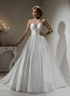 Robe de bal licol robe de mariage en taffetas - Robes de Mariage Boutique