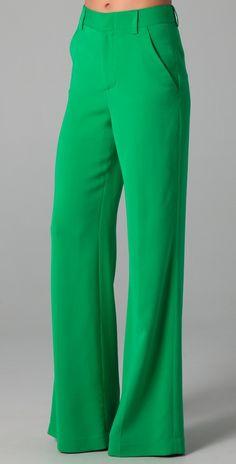 alice + olivia High Waist Wide Leg Pants