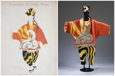 Costume Design byPablo Picasso,Parade(1917). [Credit:Diaghilev and the Ballets Russes,The National Gallery of Art]