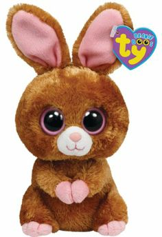 Ty Beanie Boos Hopson Brown Bunny Plush in Animals. Ty Beanie Boos, The Brown Bunny, Ty Peluche, Beanie Boo Birthdays, Ty Stuffed Animals, Stuffed Toys, Rare Beanie Babies, Ty Toys, Easter Toys