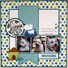 Check Out These Scrapbook Ideas Dog Scrapbook Layouts, Scrapbook Sketches, Scrapbook Paper Crafts, Scrapbook Cards, Box Photo, Multi Photo, Photo Layouts, Making Ideas, Scrapbooking