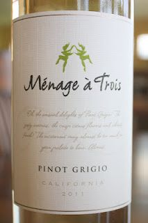 Menage a Trois Pinot Grigio 2011 - Fruity, Crispy and Juicy. $8, read the rest!