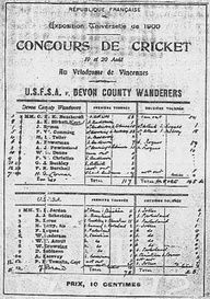 On this day (August 20) in 1900, the only cricket match to be played at the Olympics came to an end. Of course, considering England invented the game and hardly any other country played it, they won won the match. Heres an ancient image of that scorecard. Feel free to click on it for the complete story.