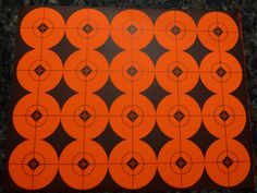 "2"" SHOOTING TARGETS STICKERS ORANGE AND BLACK SCOPE, TARGET REPAIR (40 labels) #Unbranded"