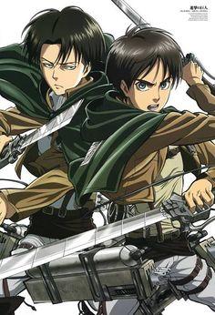 Shingeki no Kyojin. Levi and Eren