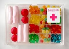 This is a shop in Barcelona and I love it! You can buy little medicine boxes, pill cases, and so on, and have a little prescription written out with advice on how or why to take the sweets! So cute!