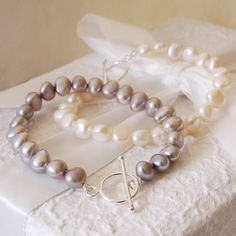 Freshwater Pearl And Sterling Silver Bracelet from notonthehighstreet.com