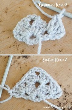 Crochet Tutorial: Granny Stitch Shawl Crochet Baby Blanket Beginner, Crochet Shawl Free, Crochet Granny, Crochet Triangle, Crochet Squares, Crochet Crafts, Crochet Projects, Knitting Patterns, Crochet Patterns
