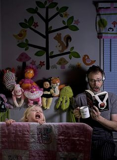 Dave Engledow - one of many humorous photos with his daughter, Alice. :)