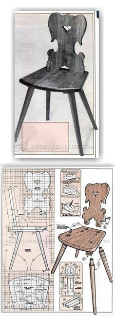 Moravian Chair Plans - Furniture Plans and Projects | WoodArchivist.com
