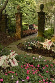 Stone pathway in Gibbs Garden - an  Atlanta-area estate landscape garden  opening in March, 2012