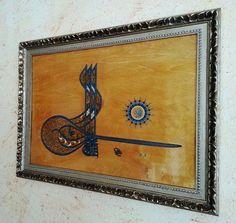 Tugra Kanuni Sultan Süleyman  Ahsap üzerine uygulama: Ferruh Aksu-Hat Sanati