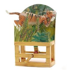 £10.00 - Interactive Tiger Model. This amazing kit has all you need to construct an interactive model of Henri Rousseau's Surprised! Tiger in a Tropical Storm.