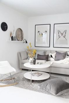 Living Room Paint, Living Room Grey, Small Living Rooms, Living Room Designs, Beautiful Living Rooms, Living Room Modern, Living Room Decor, Scandinavian Living, Fashion Room