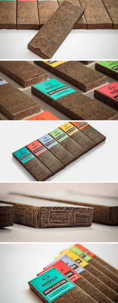 Kaebisch Chocolate packaging by Mauro Martins, Brazil.