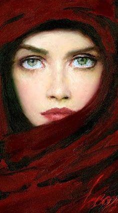 """Lady in Red"", by Taras Loboda"