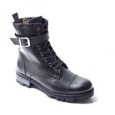 Bocanci Piele Suomi negri imblaniti Combat Boots, Biker, Casual, Shoes, Fashion, Moda, Zapatos, Shoes Outlet, Fashion Styles