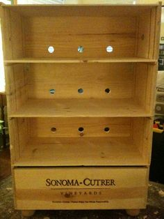 Wine crate shelving how-to
