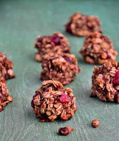 No-bake cherry oat cookie balls